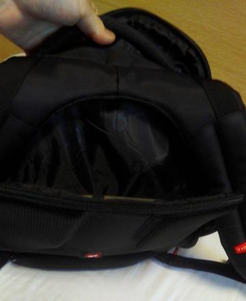 backside of backpack for laptop