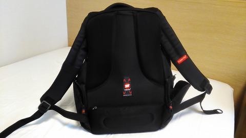 backside of backpack