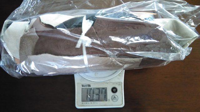 グッドレザー 本革のはぎれセット 1kg 重量確認
