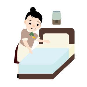 いろんな人が使っているホテルのベッド