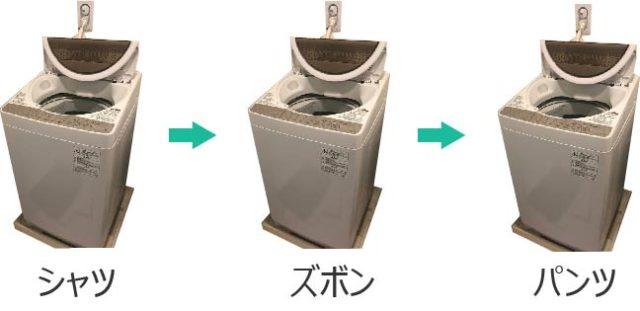 潔癖症なので洗濯は部位ごとに行う