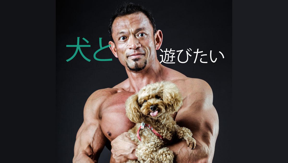 レンタルして犬と遊びたい男